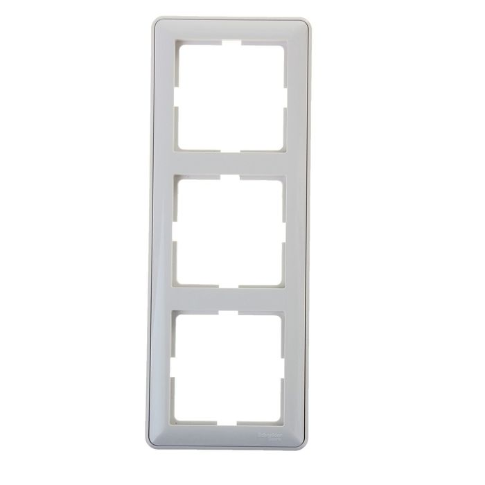 "Рамка ""W59"" SchE KD-3-18, трехместная, цвет белый"