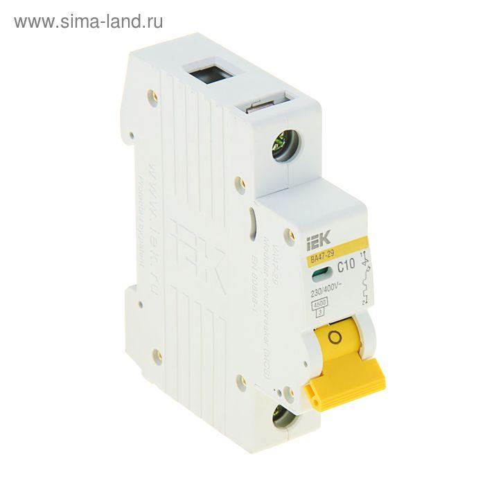 Выключатель автоматический, однополюсный, 10А