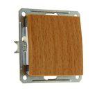 """Выключатель """"W59"""" SchE VS116-154-8-86, 16 А, 1 клавиша, скрытый, цвет бук"""