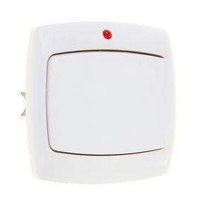 """Выключатель """"Рондо"""" SchE S16-066-BI, 6 А, 1 клавиша, скрытый, с индикатором, цвет белый"""