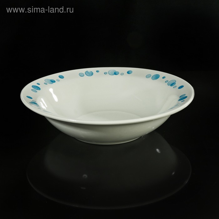 "Салатник 500 мл ""Синий горох"", 20,3 см"