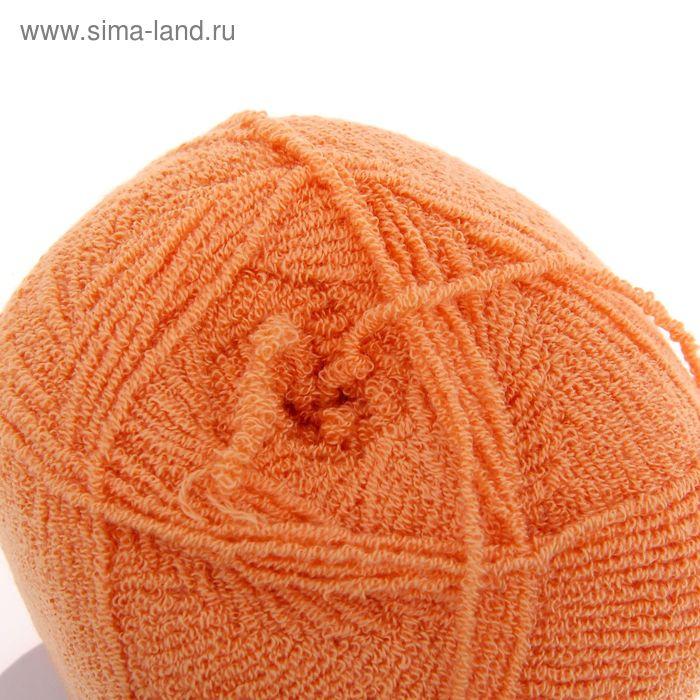 "Пряжа ""Бамбук стрейч"" 98% бамбук, 2% лайкра 260м/50гр (035, оранж.)"