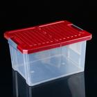 Контейнер для хранения прямоугольный, со складной крышкой 17 л Unibox, цвет МИКС