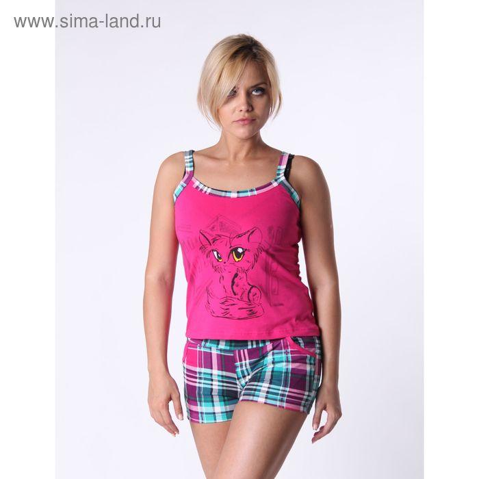 Пижама женская (майка, шорты) ТК-8А, цвет микс, размер 50