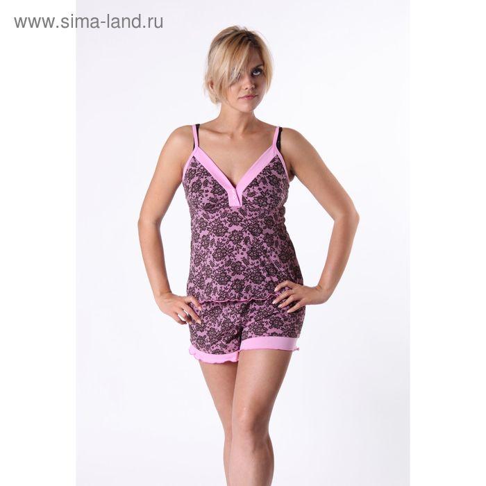 Пижама женская (топ, шорты) СИ-21, цвет микс, размер 50