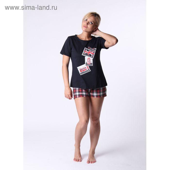 Комплект женский (футболка, шорты) ТК-77А, цвет микс, размер 46