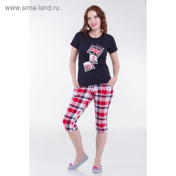 Комплект женский (футболка. бриджи) ТК-77Б, цвет микс, размер 48