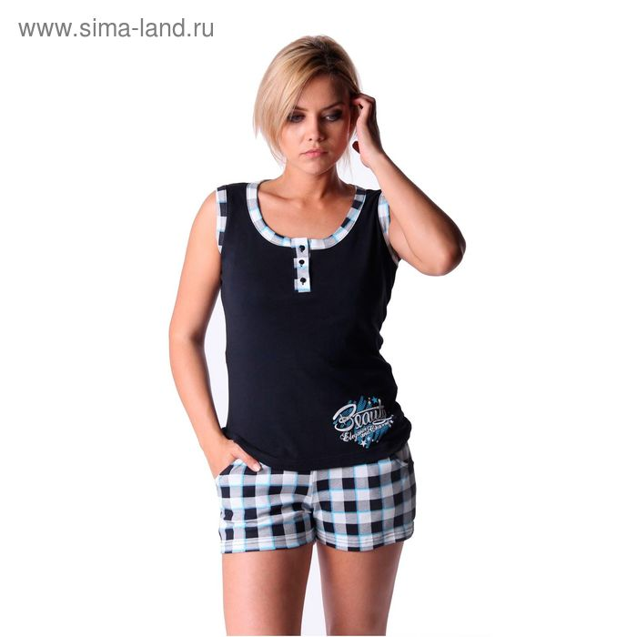 Пижама женская (майка, шорты) ТК-524, цвет микс, размер 44