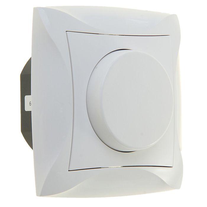"""Светорегулятор """"Дуэт"""" SchE WDE000134, 230 В, 300Вт, скрытый, цвет белый"""