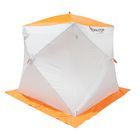 Палатка «Призма Стандарт» 170, двухслойная, цвет белый/оранжевый