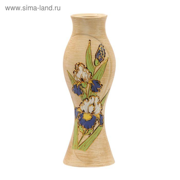 """Ваза """"Дольче Вэлла"""" большая, цветы, глазурь, шамот"""