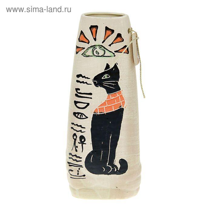"""Ваза """"Зарина"""" средняя, чёрный кот"""