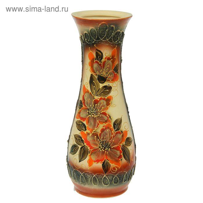 """Ваза напольная """"Осень"""" цветы, художественная роспись, микс"""