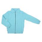 "Кофта для девочки на молнии ""Косички"", рост 92-98 см, цвет голубой 1128х_М"
