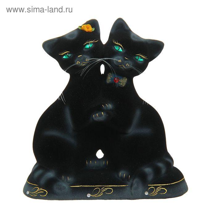 """Копилка """"Танцующие коты"""" флок, чёрная"""