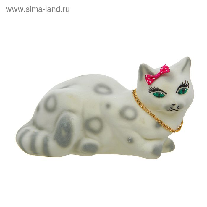 "Копилка ""Кошка Ляля"" флок, белая"
