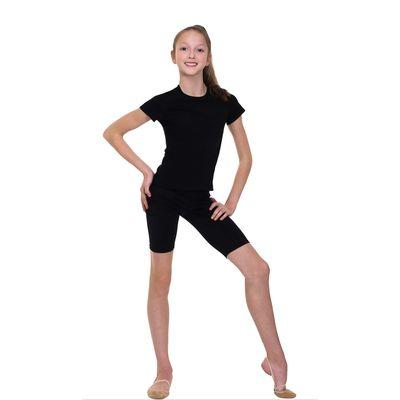 Велошорты гимнастические, размер 32, цвет чёрный