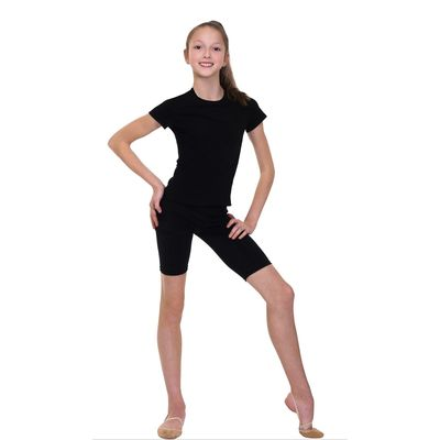 Велошорты гимнастические, размер 40, цвет чёрный