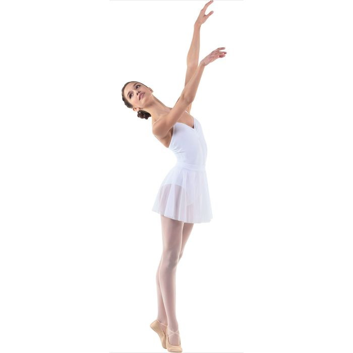 Юбка-солнце для гимнастики, сетка, размер 30, цвет белый
