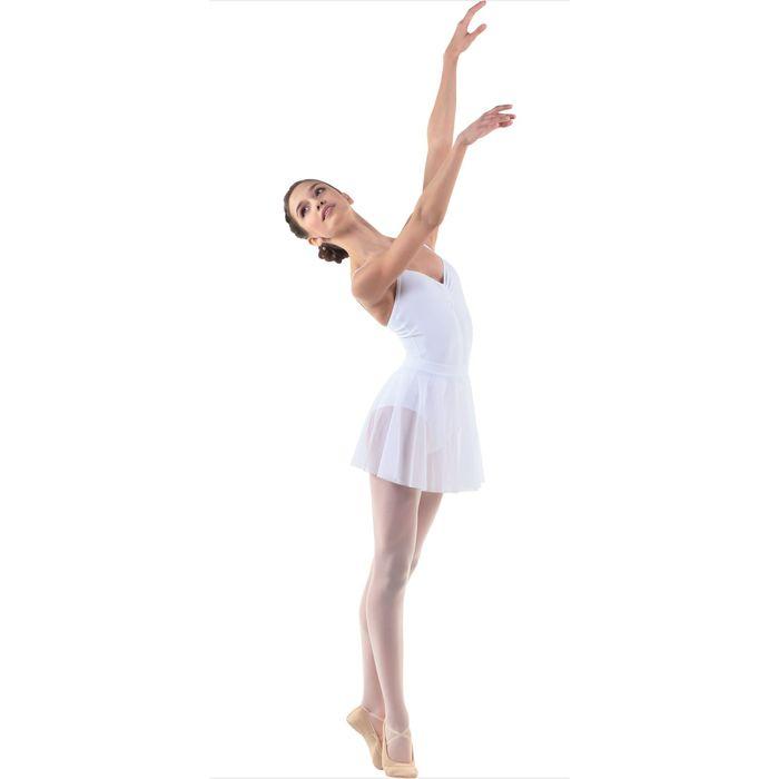 Юбка-солнце для гимнастики, сетка, размер 28, цвет белый