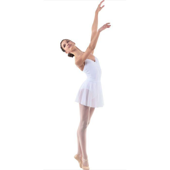 Юбка-солнце для гимнастики, сетка, размер 32, цвет белый