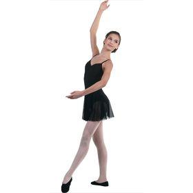 Юбка-солнце для гимнастики, сетка, размер 30, цвет чёрный