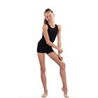 Шорты гимнастические, размер 34, цвет чёрный