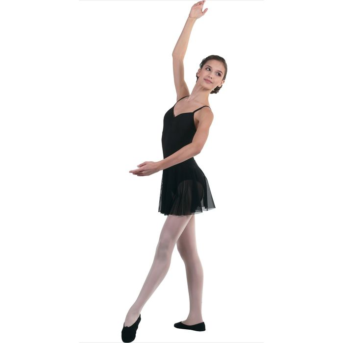 Юбка-солнце для гимнастики, сетка, размер 42, цвет чёрный