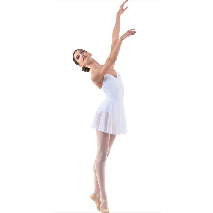 Юбка-солнце для гимнастики, сетка, размер 38, цвет белый