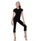 Леггинсы для гимнастики, длина 7/8, размер 28, цвет чёрный