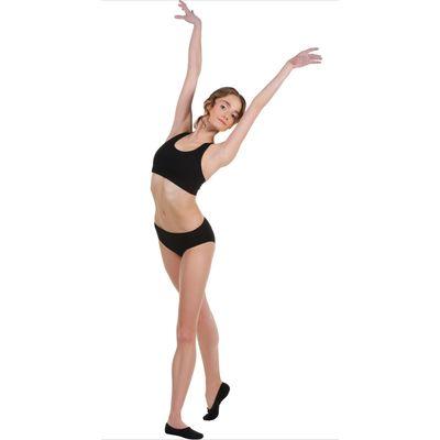 Топ-лиф гимнастический, размер 28, цвет чёрный