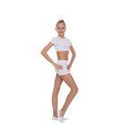 Шорты гимнастические, размер 40, цвет белый