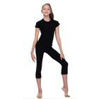 Леггинсы для гимнастики, длина 7/8, размер 36, цвет чёрный