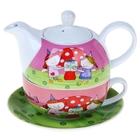 """Набор чайный 3 предмета """"Подружки"""": чайник 420 мл, чашка 290 мл, УЦЕНКА"""