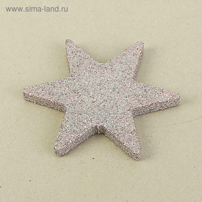 """Декор из пенопласта """"Звезда 6 лучей"""" серебряный блеск, 10 см"""