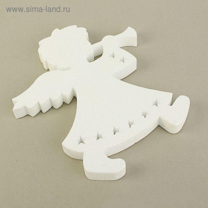 """Подвес """"Ангел рождественский"""", 34 х 3 см, белый блеск"""