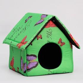 Домик для животных 'Избушка', 34х32х35 см, микс цветов Ош