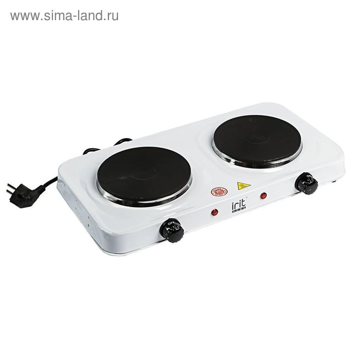 Плитка электрическая Irit IR-8008, 2000 Вт, 2 конфорки, белая