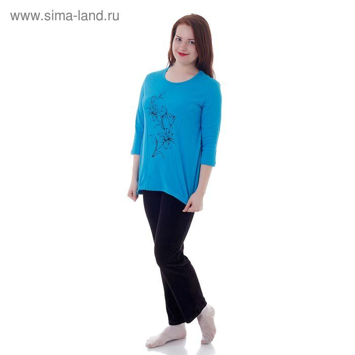 Комплект женский (кофта, брюки) 205ВЛ1487П МИКС, р-р 54