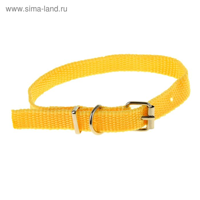 Ошейник 33,5 х 1,5 см, полиэстр, желтый