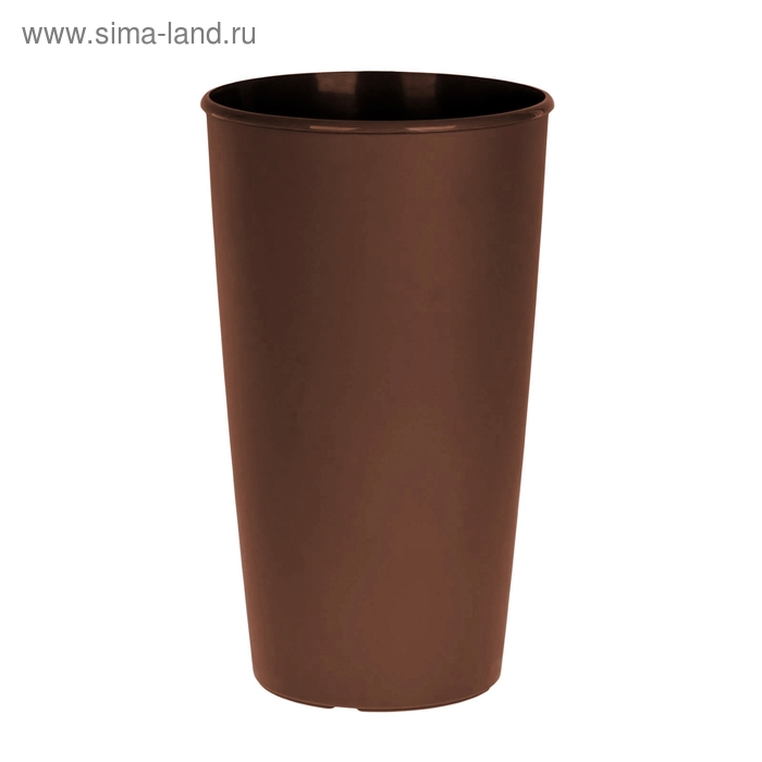 Горшок для цветов Le cone 41(18) л, цвет коричневый