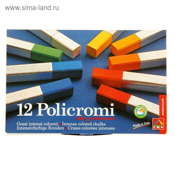 Мелки художественные Policromi 12 цветов