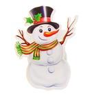 """Значок световой """"Снеговичок в шляпе"""""""