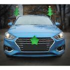 новогодние украшения на авто