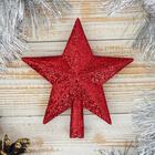 """Звезда на ёлку """"Красный блеск"""""""