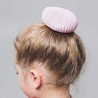 Сетка на пучок, детская, диаметр 11 см, набор 10 шт., цвет розовый