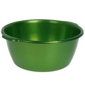 Таз 16 л, цвет зеленый с перламутром