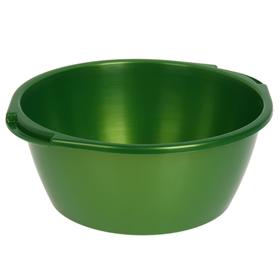 Таз круглый 13 л, цвет зелёный с перламутром