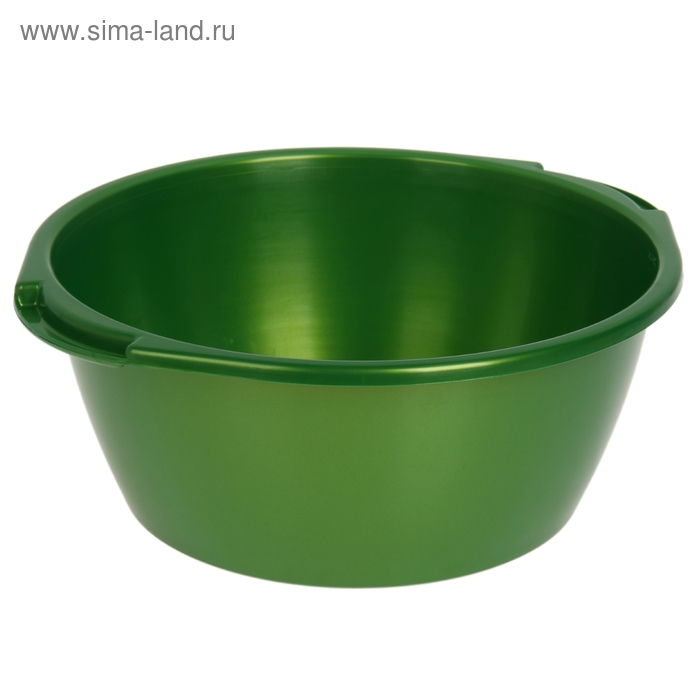 Таз 13 л, цвет зеленый с перламутром