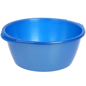 Таз 13 л, цвет голубой с перламутром